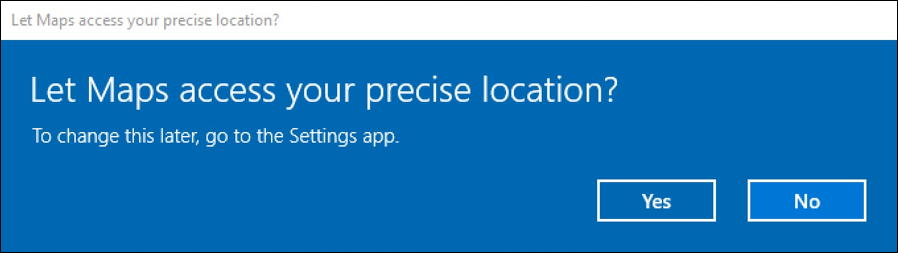 allow microsoft windows maps - access location?