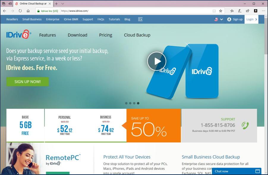 idrive home page