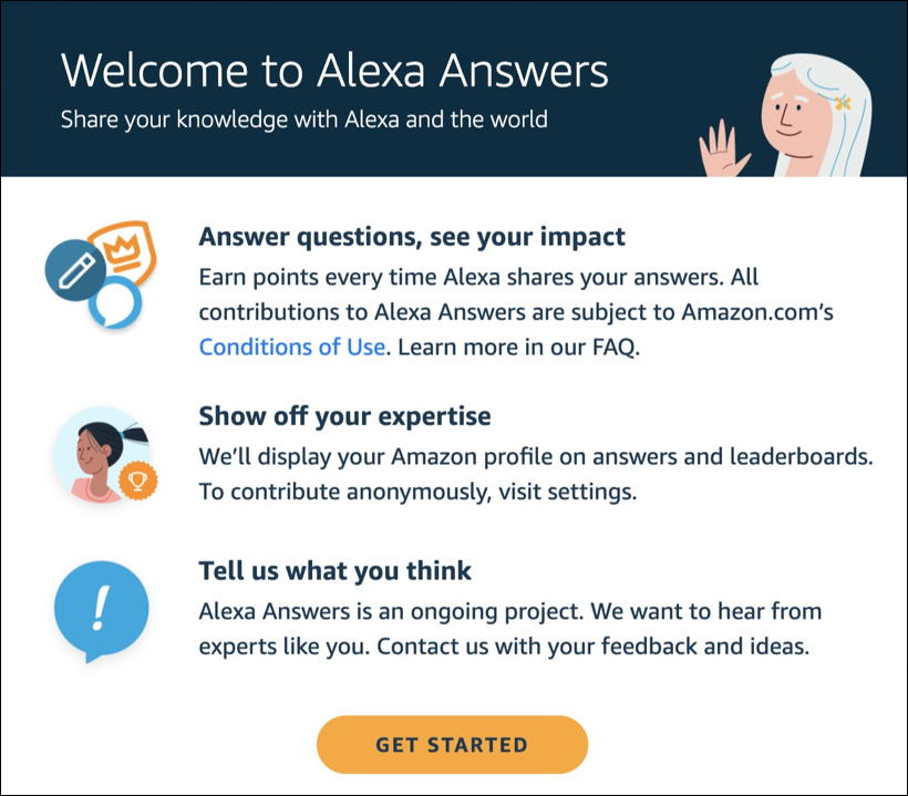 get started alexaanswers