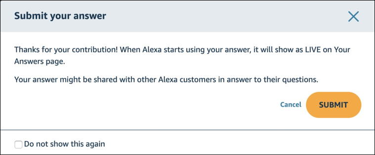 thanks for your answer - alexa answers - amazon echo