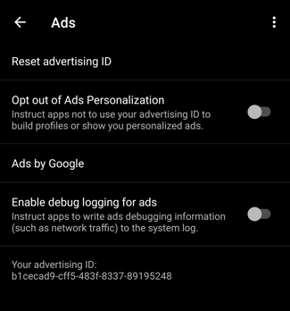 android 10 advertising id privacy
