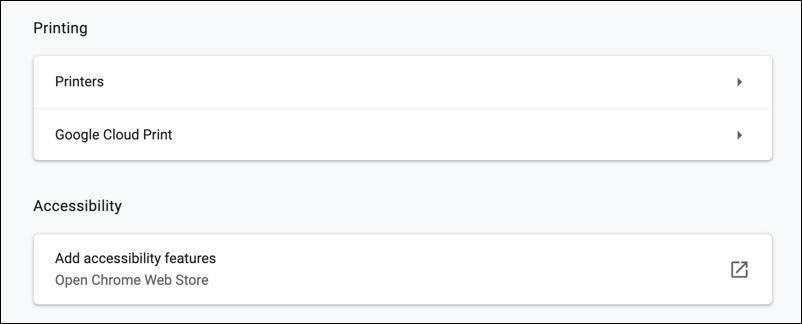 google chrome for mac - printing settings options preferences