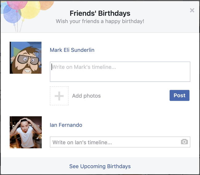 Easy Way to Wish Friends Happy Birthday on Facebook?