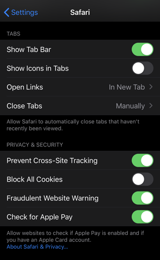 ios13 settings safari close tabs