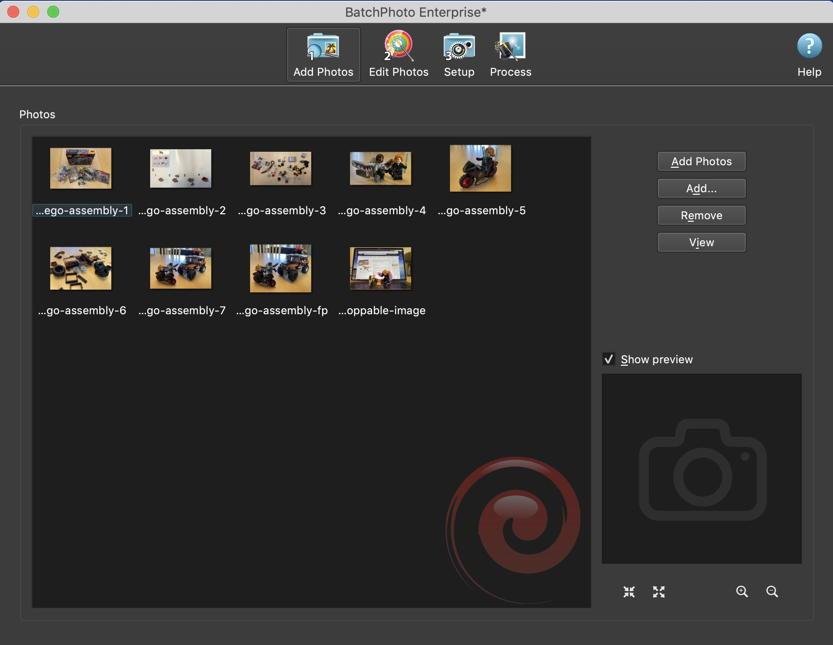 mac batchphoto - images selected