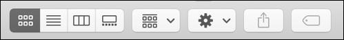 macos x finder - view options - toolbar