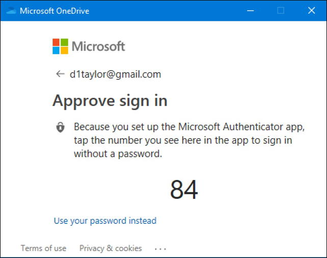 windows 10 authenticator - computer view