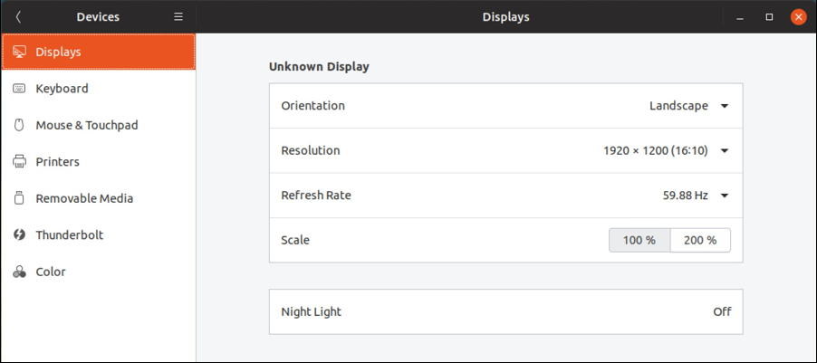 ubuntu linux settings - displays