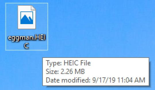 heic image in windows 10 - icon