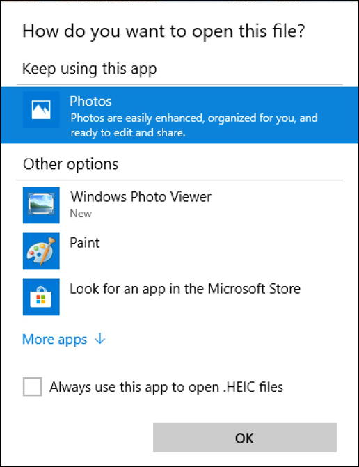 win10 open with heic heif photo