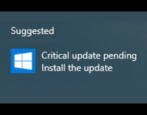windows 10 - critical update pending - fix solve update