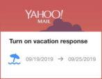 yahoo mail vacation response autoresponder autoresponse