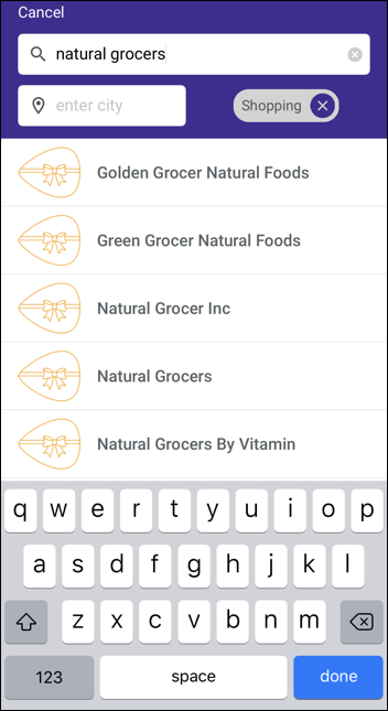 giftya gift cards- search for natural grocers