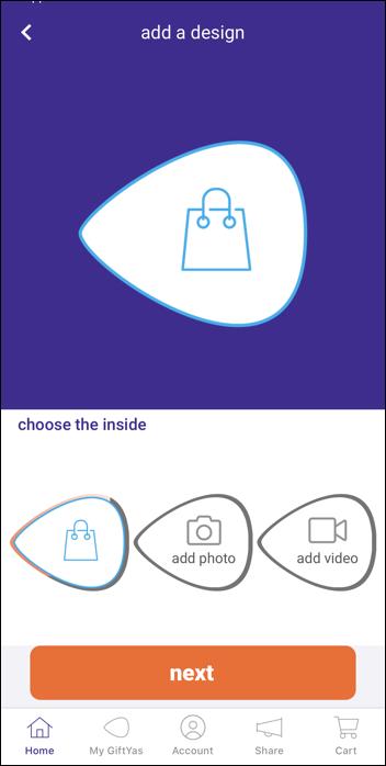 giftya gift card - specify photo