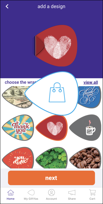 giftya gift card - sticker top image graphic