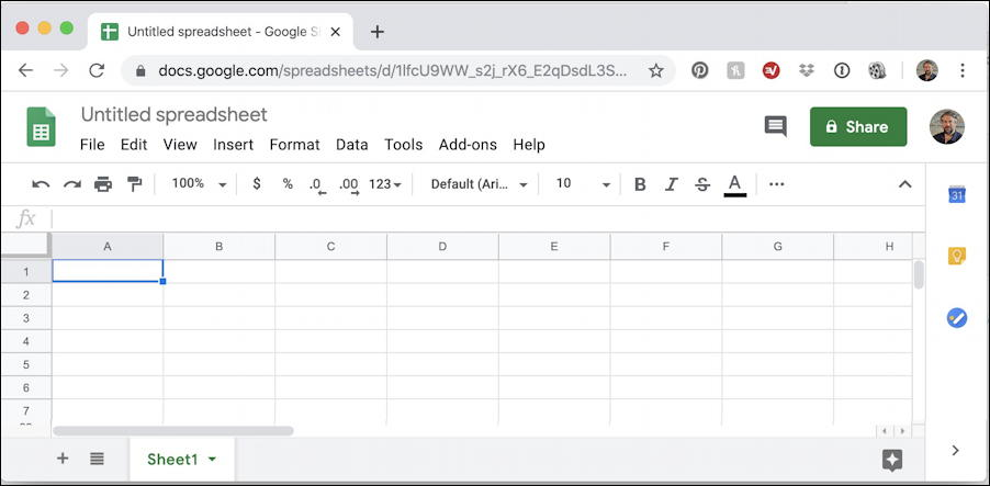 google docs - sheets spreadsheet blank in chrome