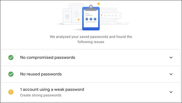 google password checker - checking and testing your passwords - chrome