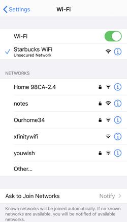 ios13 wifi settings
