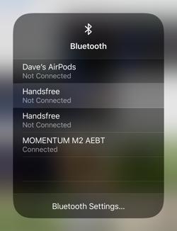 ios13 control center - bluetooth - choose device shortcut tip trick