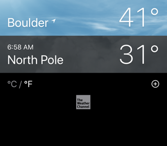 iphone weather app - multi-city view