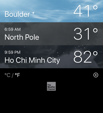 iphone ios 13 weather app - add city - saigon
