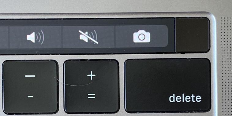 macbook pro with touchbar - fingerprint sensor