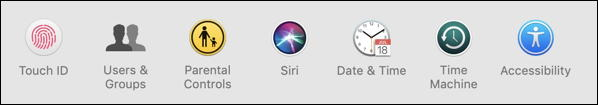macos x - system preferences - touch id