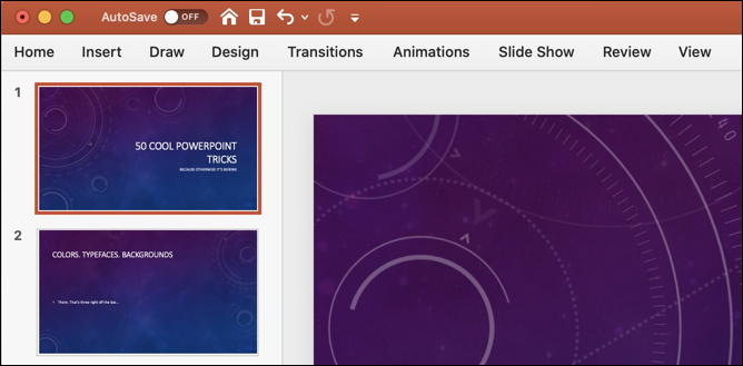 powerpoint mac slide deck