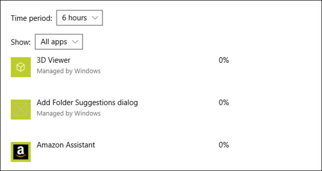 win10 apps using battery - 6 hour usage
