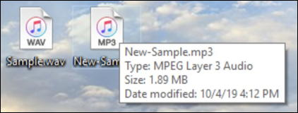 win10 converted audio file wav mp3 ogg aac