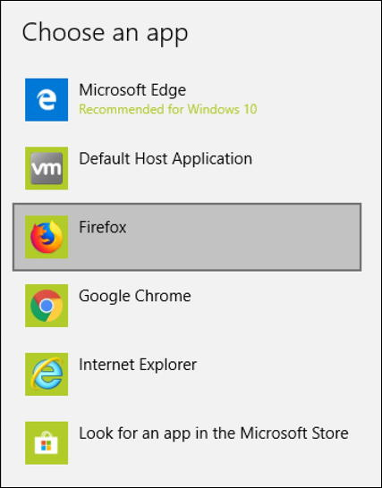 possible web browsers - win10