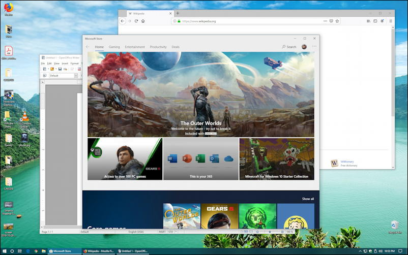 windows 10 - task view screen desktop