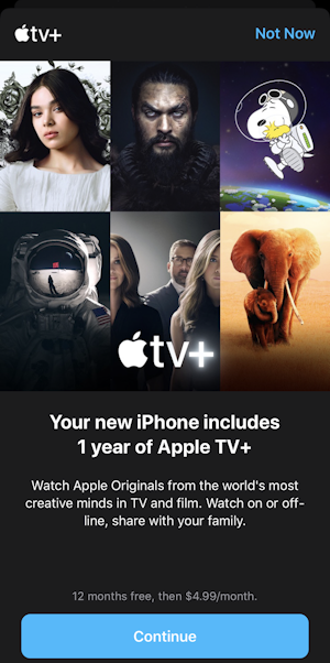 apple tv+ - free subscription - sign up get iphone ipad