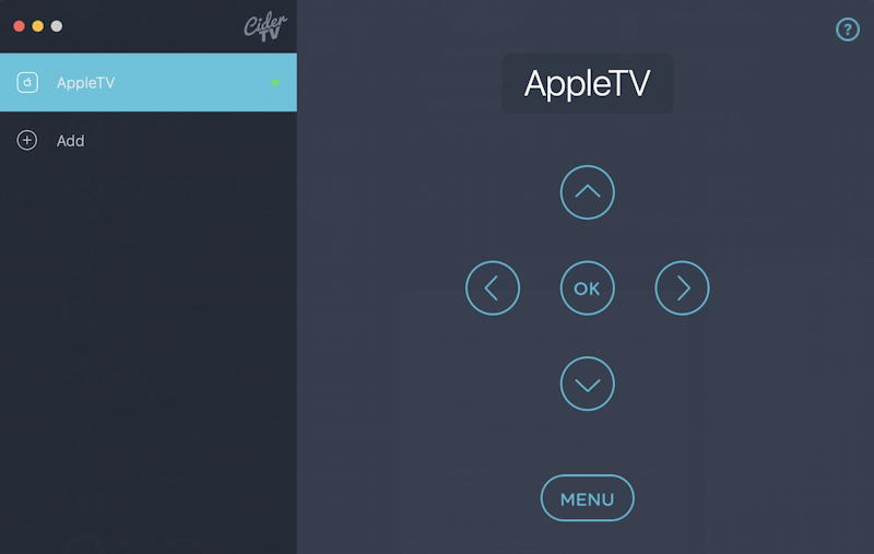 cidertv controls appletv on mac macos x macbook imac