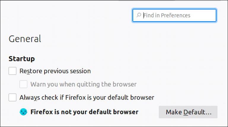 firefox settings - linux