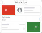 gmail iphone set swipe actions default preferences settings - trash archive