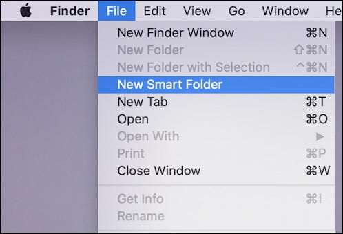 macos x mac smart folder - new smart folder