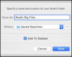 how to create use smart folders mac macos x