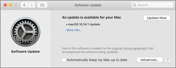 macos x software update - available install restart download