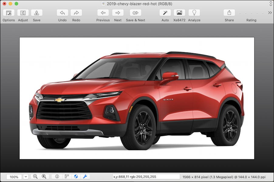 chevy blazer - image in graphicconverter