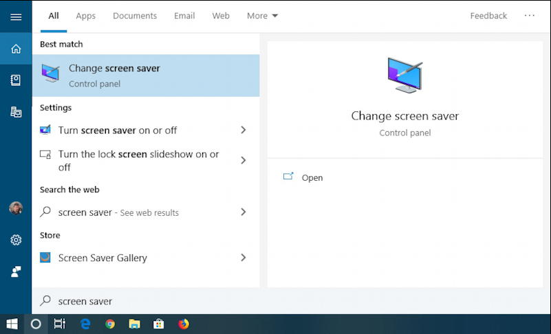 windows 10 win10 cortana search box - screen saver
