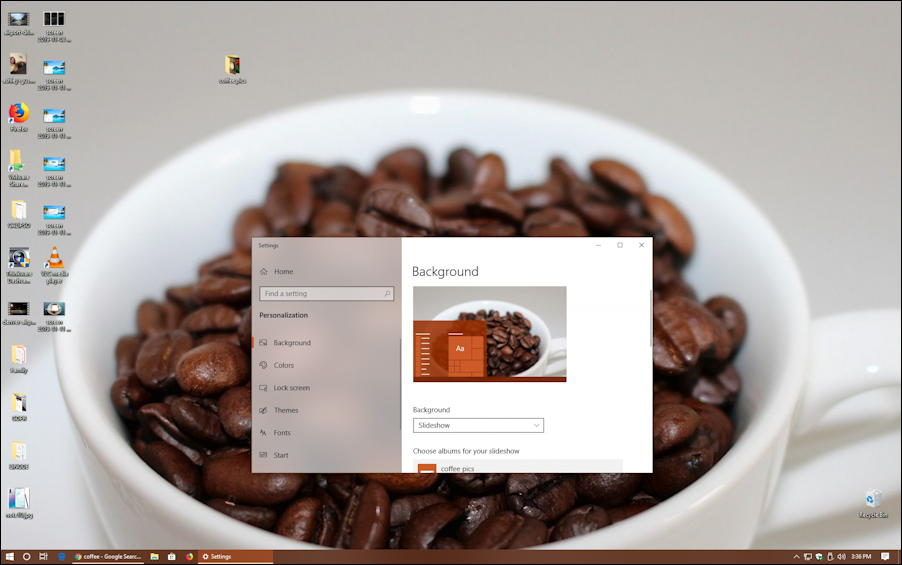 win10 coffee wallpaper custom personalized coffee beans