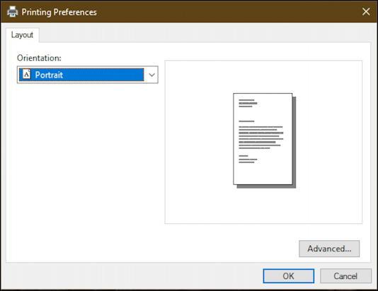 win10 print dialog box - preferences