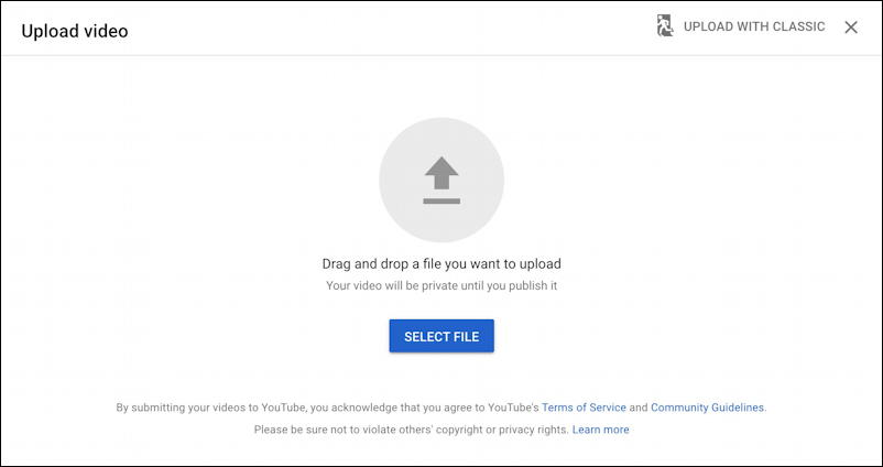 youtube video uploader - how to schedule - video upload window
