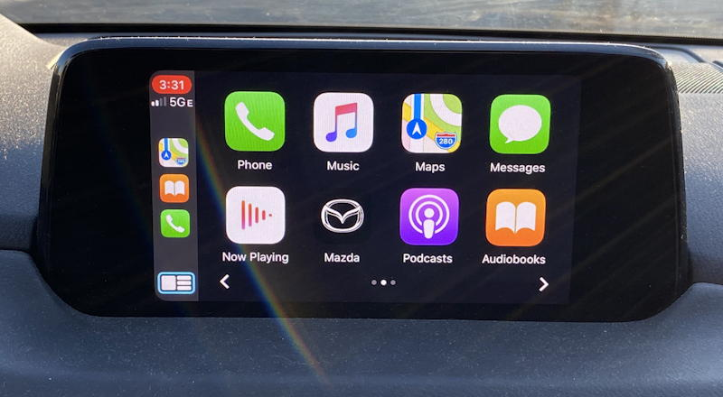 apple carplay running on mazda entertainment system
