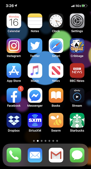 iphone ios13 main screen