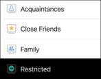 facebook restricted list minimize friend visibility comments