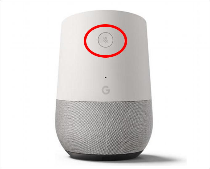 google home mute button rear back