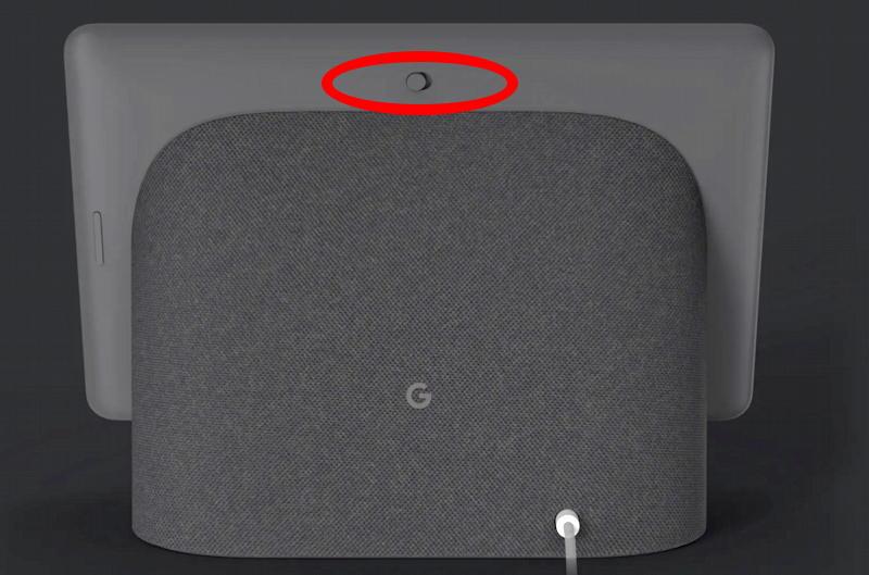google nest hub max rear mute switch