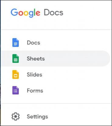 choose a type of google doc